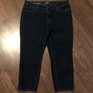 Ann Taylor Loft Curvy Crop Jeans